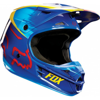 Мотошлем Fox V1 Vandal Yellow-Blue M