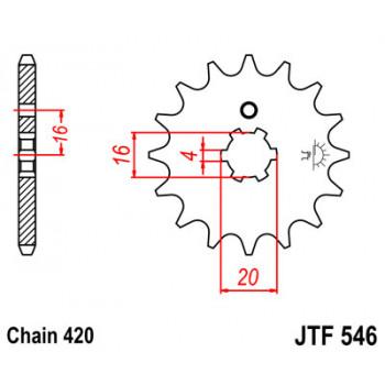 Звезда передняя JT Sprockets JT JTF546.12
