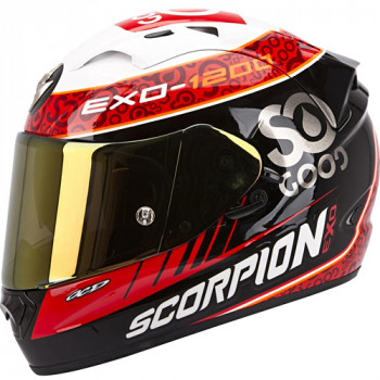 Мотошлем Scorpion Exo-1200 Air Replica Charpentier Black-White-Red M