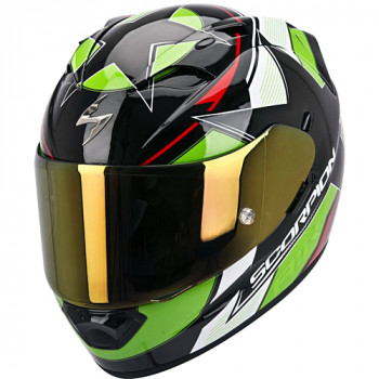 Мотошлем Scorpion Exo-1200 Air Stella Black-Green-Red L