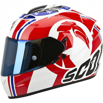 Мотошлем Scorpion Exo-1200 Air Stinger White-Red-Blue M