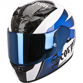 Мотошлем Scorpion Exo-710 Air Knight White-Blue M