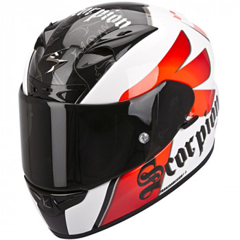 Мотошлем Scorpion Exo-710 Air Knight White-Red L
