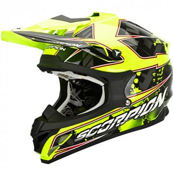 Мотошлем Scorpion VX-15 Evo Air Magma Black-Neon Yellow M