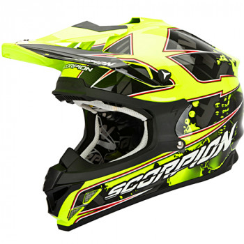 Мотошлем Scorpion VX-15 Evo Air Magma Black-Neon Yellow XL