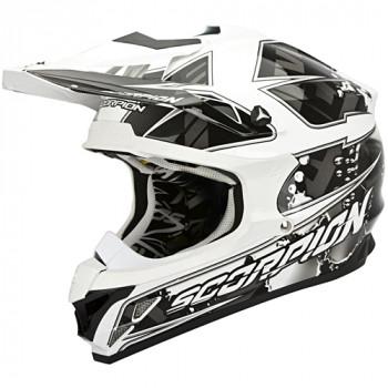 Мотошлем Scorpion VX-15 Evo Air Magma Black-White XL
