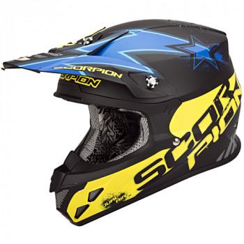 Мотошлем Scorpion VX-20 Air Magnus Matt Black-Blue-Yellow L
