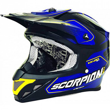 Мотошлем Scorpion VX-20 Air Sherco Blue-Black XL