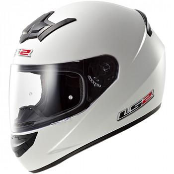 Мотошлем LS2 FF352 Rookie Single Mono Gloss White 2XL