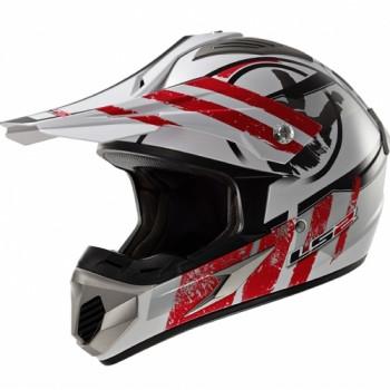 Мотошлем LS2 MX433.92 Stripe White-Red S