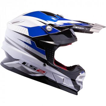 Мотошлем LS2 MX456 Factory White-Black-Blue L