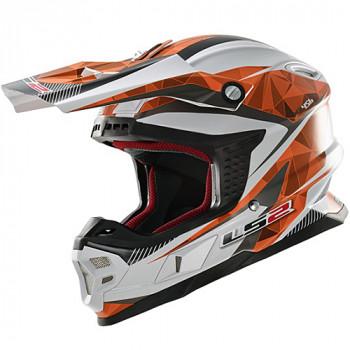 Мотошлем LS2 MX456 Light Quartz White-Orange L