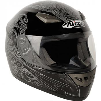 Мотошлем Nitro Moko Black-Silver XS