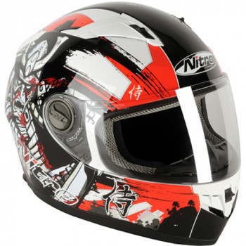 Мотошлем Nitro N2100 Samurai White-Black-Red L