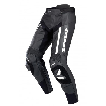 Мотоштаны кожаные Spidi RR Pro Black-White 48