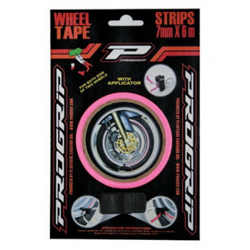 Наклейка на обод колеса ProGrip Strip X Wheels Fluorescent Fuxia