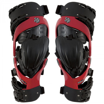 Мотонаколенники Asterisk Cell-Knee Protection System-Pair Black-Red XL