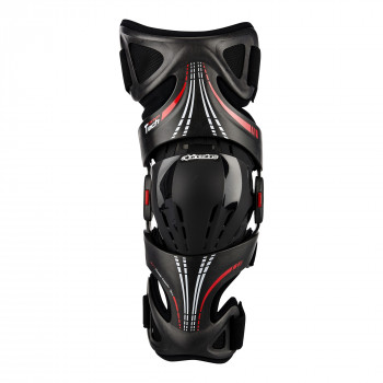 Мотонаколенник Alpinestars Fluid Tech Carbon (Left) Anthracite-Red S/L