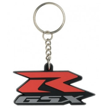 Брелок Suzuki GSX-R лого Red-Grey