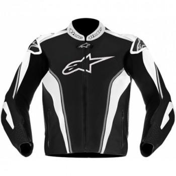 Мотокуртка кожаная Alpinestars GP Tech Black-Silver-White 50