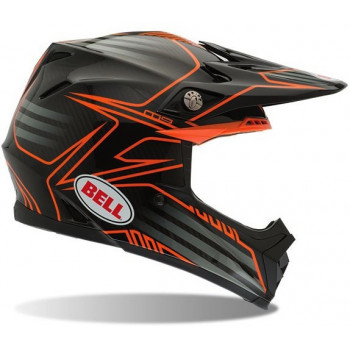 Мотошлем Bell Moto-9 Pinned Black-Orange L