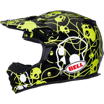 Мотошлем Bell MX-2 Skull Candy Black-Yellow L