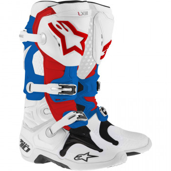 Мотоботы Alpinestars TECH 10 White-Blue-Red 10