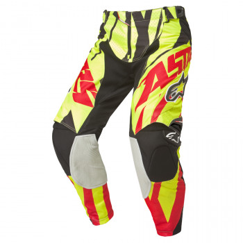 Мотоштаны Alpinestars Techstar Yellow Fluo-Red-Black 36