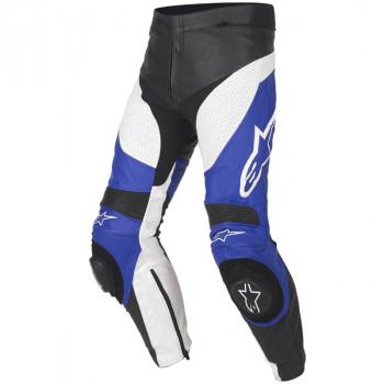 Мотоштаны кожаные Alpinestars Track Leather Blue 46