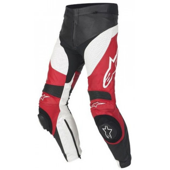 Мотоштаны кожаные Alpinestars Track Leather Red 50