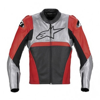 Мотокуртка кожаная Alpinestars Vector Red-Silver-Black 56