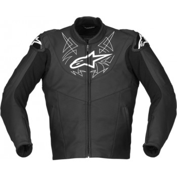 Мотокуртка кожаная Alpinestars Vector Black 48