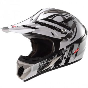 Мотошлем LS2 MX433 Stripe White-Black S