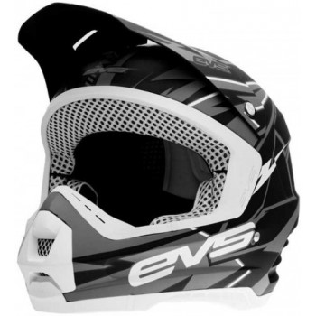 Мотошлем EVS T5 Bolt Matt Black-Grey M