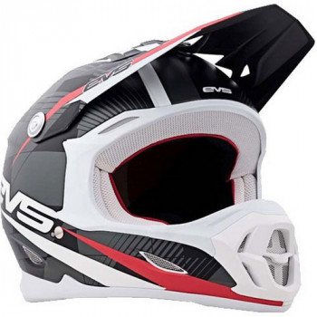 Мотошлем EVS T7 Crossfade Black-White-Red XS