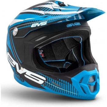 Мотошлем EVS T7 Pulse Blue-Black Matt XL
