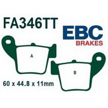 Колодки тормозные EBC FA346TT для Honda задние Red