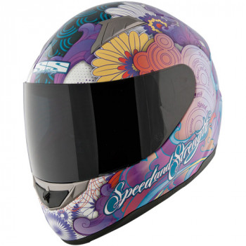 Мотошлем Speed and Strength SS1100 Flower Power Purple S