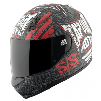 Мотошлем Speed and Strength SS700 Tapout Black-Red-White XL