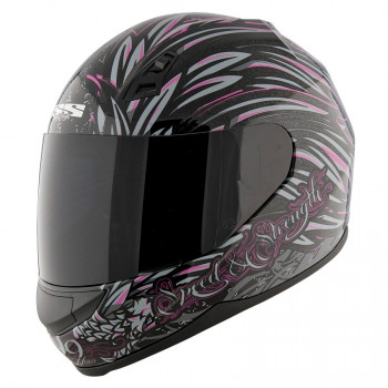 Мотошлем Speed and Strength SS700 To the Nines Black-Pink M