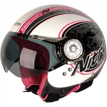 Мотошлем Nitro X546-AV Blade Pearl White-Pink-Black S