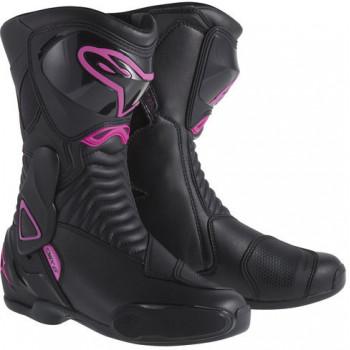 Мотоботы женские Alpinestars Stella S-MX 6 Black-Pink 39 (2014)