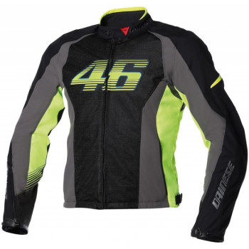 Мотокуртка Dainese G. VR46 Air Black-Anthracite-Green 48