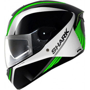 Мотошлем Shark Skwal Spinax Black-White-Green S