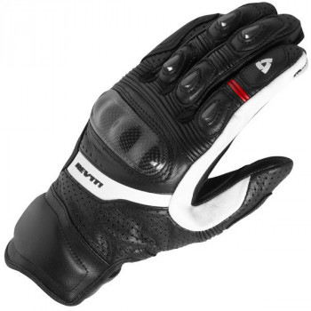 Мотоперчатки кожаные Revit Chevron Black-White S