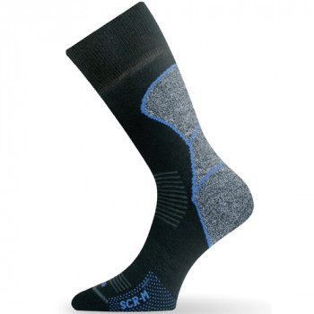 Термоноски для беговых лыж Lasting SCR Black-Grey-Blue M