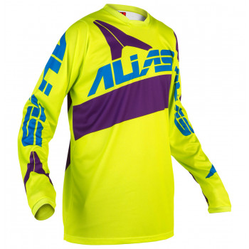 Джерси Alias A2 Bars Neon Yellow-Purple L