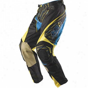 Кроссовые детские штаны Answer Cyan-Yellow Y20