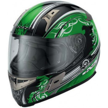 Мотошлем IXS HX 570 Intruder Green-Black-White XS