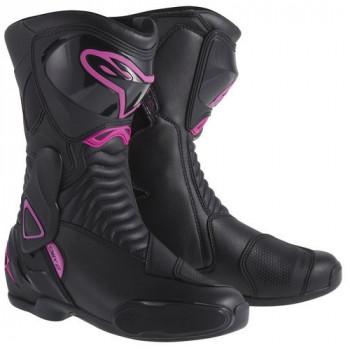 Мотоботы женские Alpinestars Stella S-MX 6 Black-Pink 37